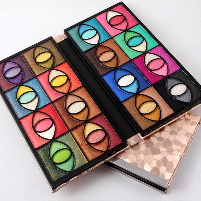 Fashion Stone PU Leather Popular 80 Colors Eyeshadow Pallete Women Makeup Kit Full Shimmer Makeup Palette Money Clip Design