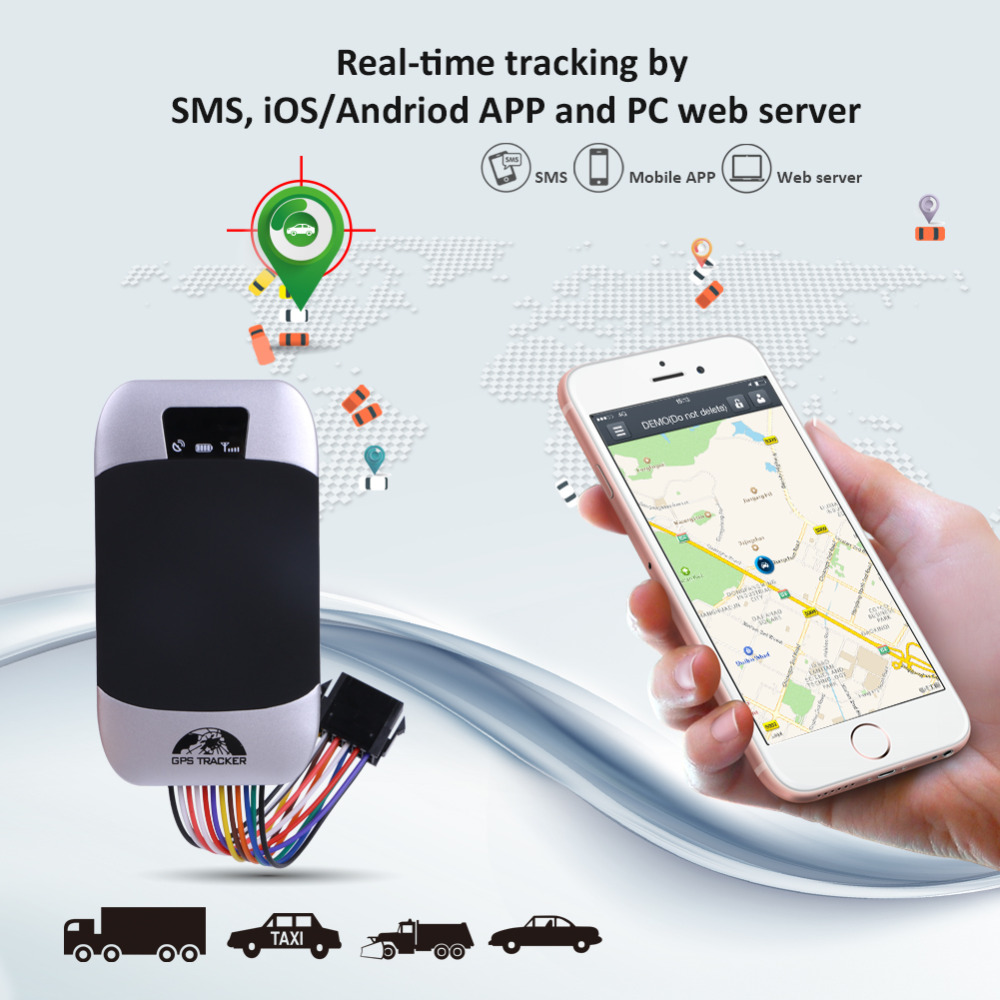 GPS Tracker Car GPS Locator Coban Waterproof Cut Off Oil Vehicle Tracker  Fuel Detect Real time Tracking Device Shock Alarm