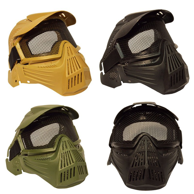 New AIRSOFT & PAINTBALL SPORTS CS Pro Full Face Mask with Safety Metal Mesh Goggles Protection W1 ...
