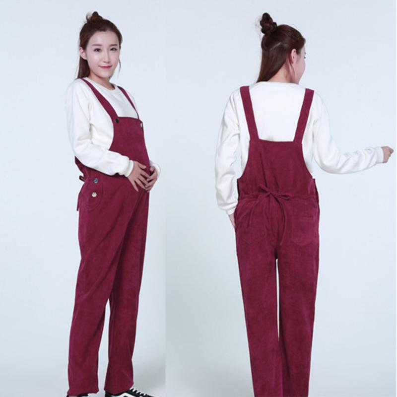 Maternity Overalls Pregnancy Jumpsuits Pregnant Women Corduroy Casual Pants Trousers Clothes Bottoms Bib Pants