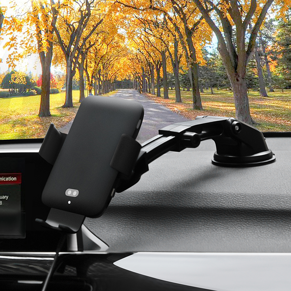 Qi C12 chargeur sans fil de voiture pour Samsung S8 S9 Plus avec commande vocale induction infrarouge 2.0 3.0 charge rapide support pour téléphone