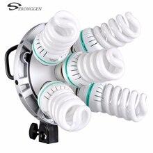 Nouveau Godox Studio 5 en 1 tête dampoule multi support tricolore lumière appareil photo photographie éclairage TL 5