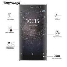 лучшая цена Wangcangli Tempered glass For Sony Xa2plus phone protective film 2.5D screen protector For Sony Xa2plus