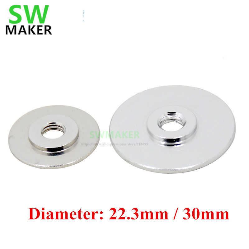 SWMAKER 10pcs/set Reprap M6 Threaded Diameter 22.3mm/30mm Heat Sink Washers For DIY 3D Printer All Metal Hot End Aluminum Alloy