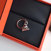 Hot Brand Pure 925 Sterling Silver Jewelry For Women Men Letter Round H Lock Jewelry Silver