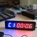 Multifunções Relógio de contagem regressiva Digital 1.8 ''6 Dígitos Temporizador Crossfit LEVOU Cronômetro Temporizador De Intervalo Para Gym Fitness Formação de Garagem