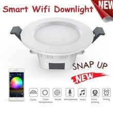 Smart Downlight Bluetooth Werken met HaoDeng App afstandsbediening Smart Veranderen Licht voor IOS/Android