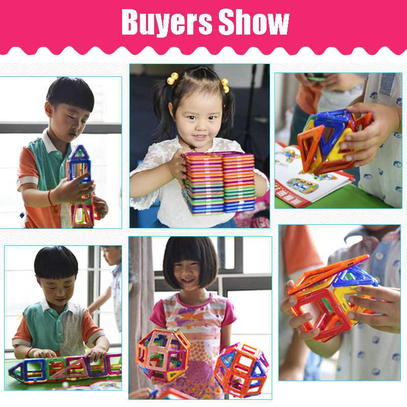 Kacuu 135 pçs tamanho grande conjunto de construtores magnéticos meninos meninas construção ímãs brinquedo blocos magnéticos brinquedos educativos para crianças