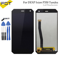 Black For DEXP Ixion P350 Tundra LCD Display+Touch Screen Assembly High Quality Digitizer Glass Panel Replacement Parts+Tools