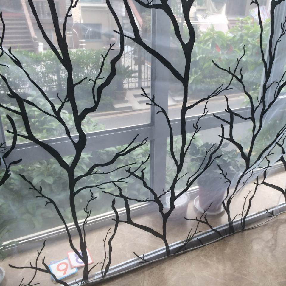 ... Free Shipping Tree Branch Floral Window Tulle Curtains Voile Sheer  Curtain For Bedroom