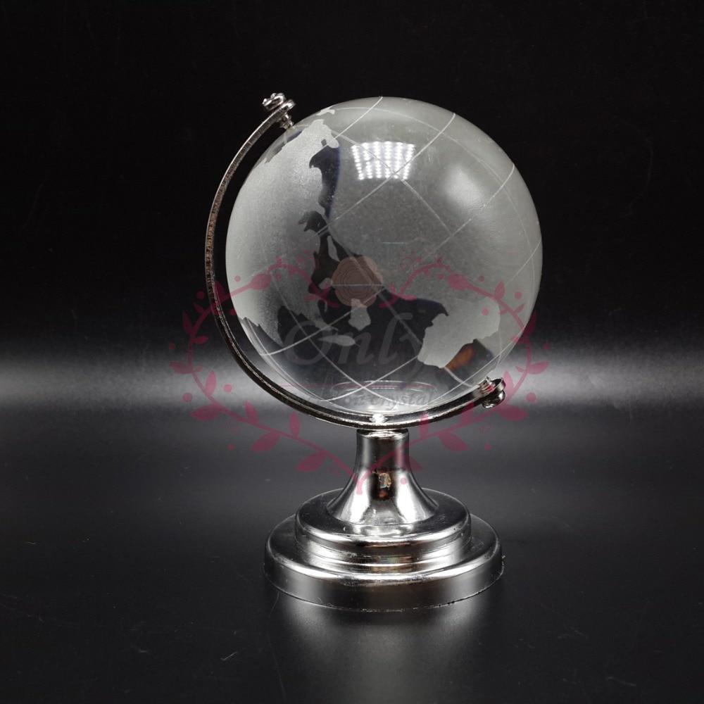 Ясный 50 мм хрустальное стекло земля мяч с поддержкой для офиса фэншуй настольные украшения бесплатная доставка
