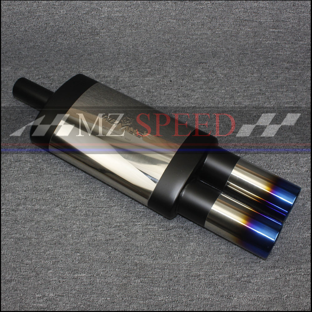 51mm Exhaust Pipe Car Muffler Polished Stainless Steel Burned Blue Silencer For Mercedes-Benz BMW Honda Motor Muffler heart shaped car muffler dual exhaust pipe for toyota corolla camry seat ibiza ssangyong skoda renault ford honda mercedes bmw