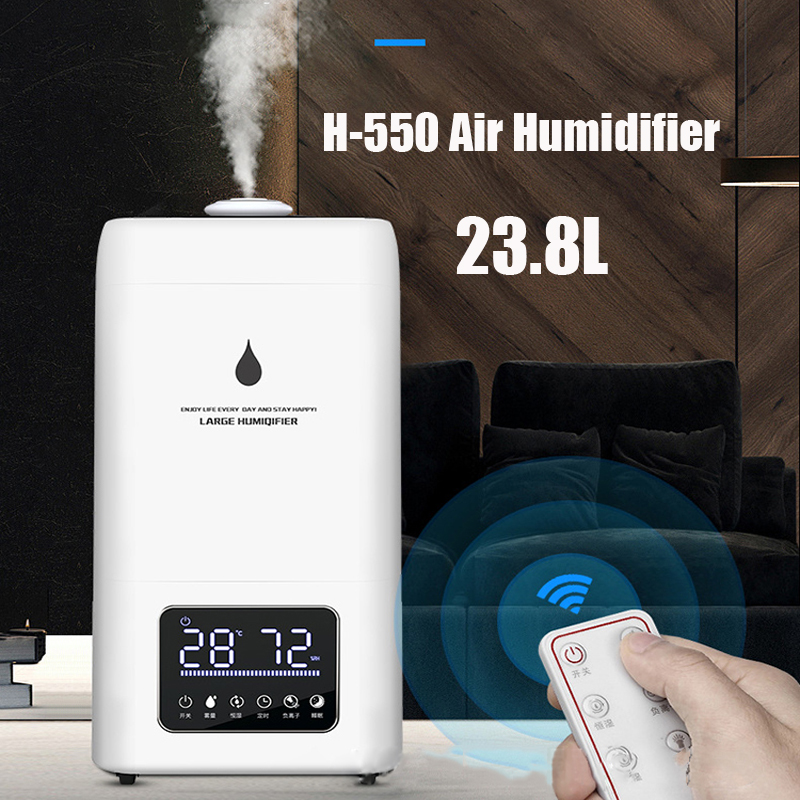 23.8L Air Humidifier Large Capacity Industry Grade Humidifier Application 150-200m2 Area Humidifier 220v With 12H Timing H-550
