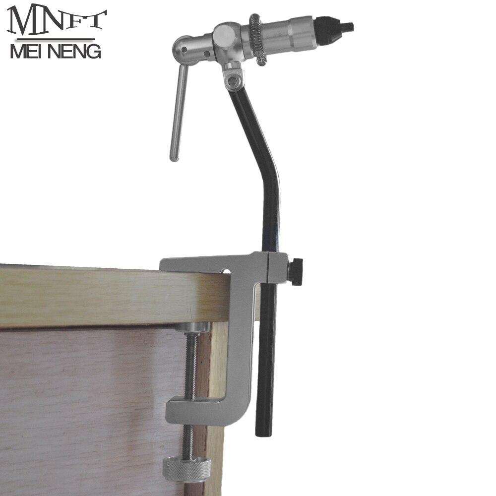 MNFT 1 Set Portable Bureau Clap Mouches Étau Rotatif Tête Inoxydable Anodisé Construction En Aluminium Avec Rotatif Bureau C Pince poche