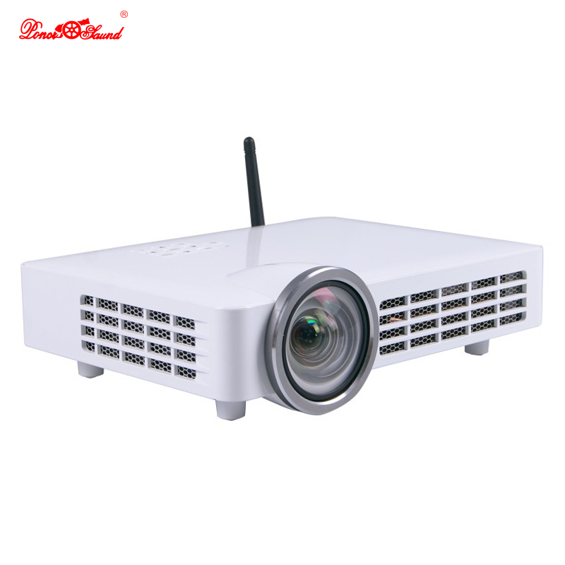 Poner Saund MINI Projector Led 3D 4K usb full HD DLP 5000 lumens Android Video tv Digital Projektor Short Throw beamer Proyector mini led projector bl 18 proyector portable pico projektor 500lumen full hd projectors av vga sd usb hdmi video beamer projetor