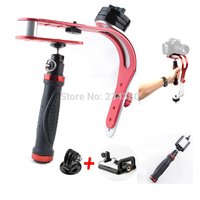 Red Steadicam Hand Held Video Stabilizer Monopod For Samsung GoPro Hero HD Kamera Digital Camcorder DV