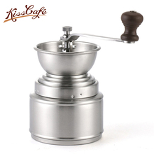 Stainless Steel Hand-cranked Espresso Coffee Grinder Washable Mini Beans Powder Grinding Accessories