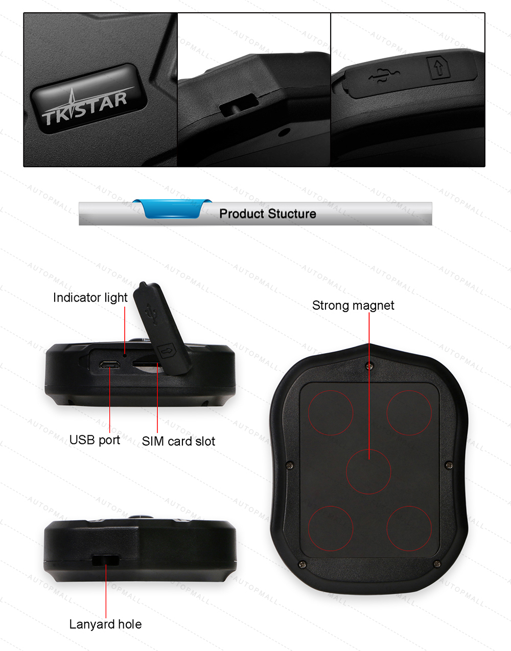 GPS Car Tracker TK905