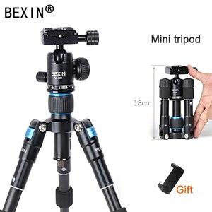 Image 1 - Bexin mini tripé portátil m225s, mini tripé para celular, temporizador ao vivo, câmera para fotografia, slr, tablet, mini bola de cabeça tripé com tripé