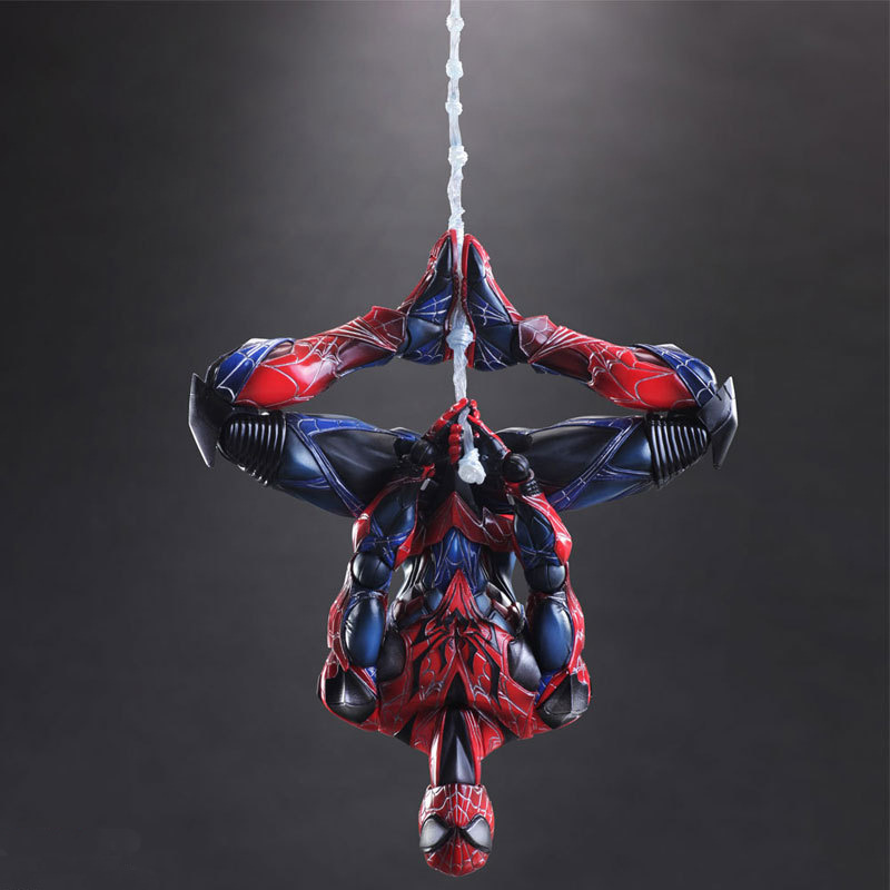 25cm Spider Man Avengers Action Figure  Super Hero Toy with Color Box Christmas Gift new hot 22cm avengers super hero hulk movable action figure toys christmas gift doll with box