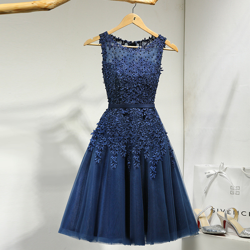 It-s-YiiYa-Lace-Many-Color-Illusion-Flowers-Beading-A-line-Knee-Length-Dinner-Bridesmaids-Dresses (2)