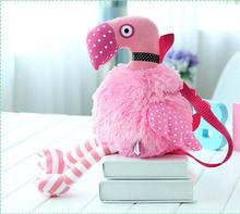 Så söta rosa barn Flickor Plush Leksaker Fyllda Djur Flamingo Plush Ryggsäckar