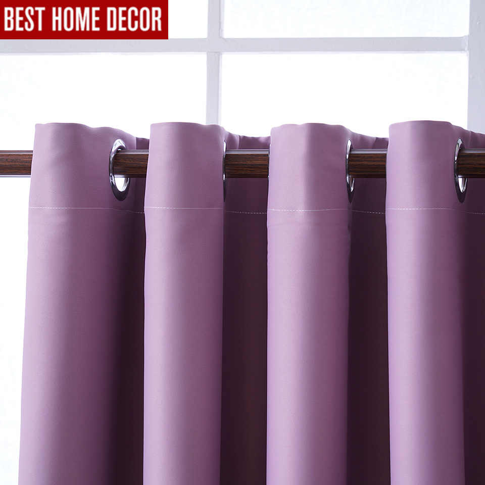 Modern blackout curtains for living room bedroom curtains for window drapes pink finished blackout curtains 1 panel blinds