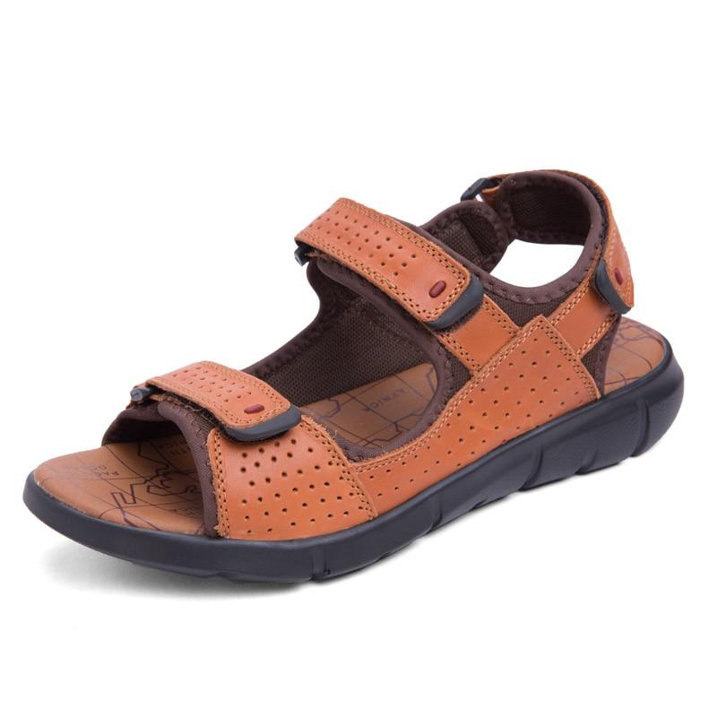 Mens sandals men shoes cow letaher sandal casual summer shoes top quality zapatos sandalias hombre plus size 38-48