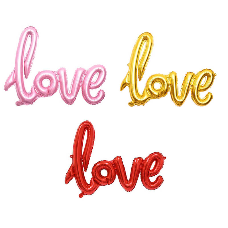 LOVE Letter Foil Balloon Anniversary Wedding Valentines Birthday Party Decoration Photo Booth Props $