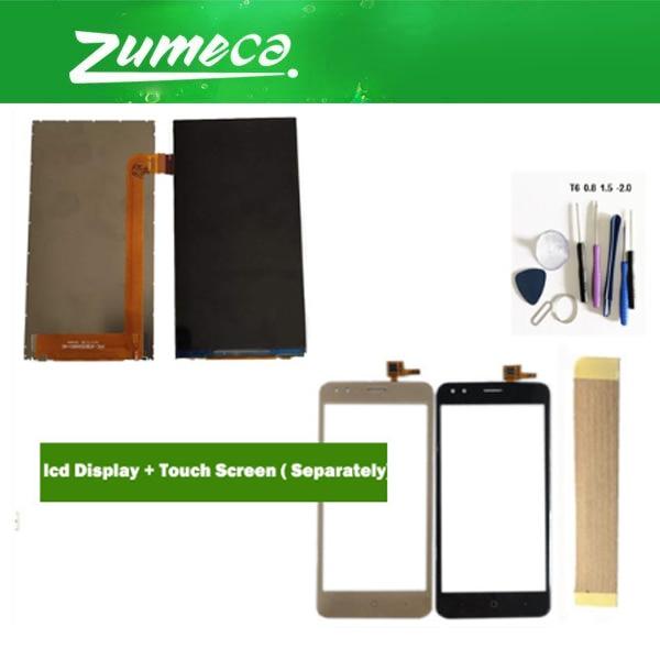 Para Micromax Parafuso Ultra 2 Q440 Display LCD Touch Screen Digitador Lente de Vidro Do Painel de Toque de Ouro Cor Preta Com Fita & Tool
