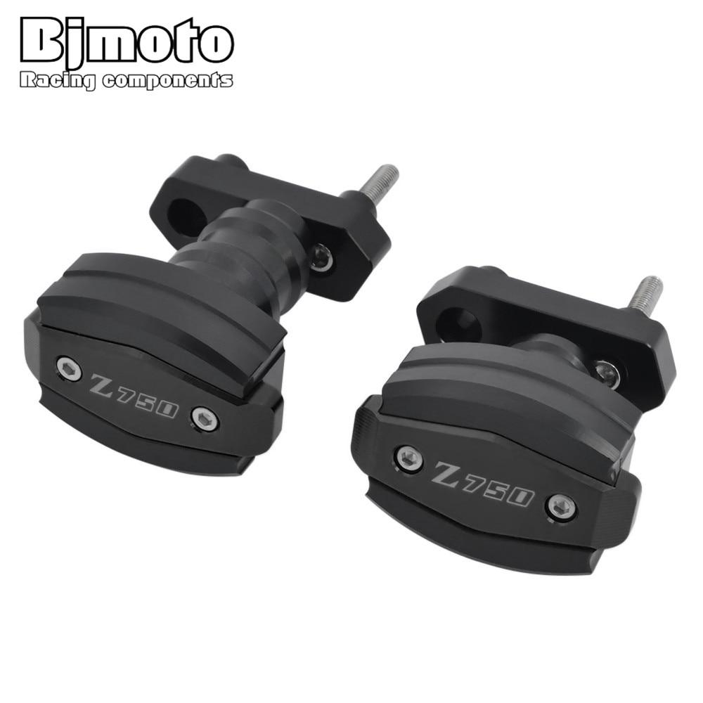 BJMOTO pour Kawasaki Z750 2007-2012 Z750R 2011-2012 cadre de Protection contre les chutes de moto CNC curseurs en aluminium - 2