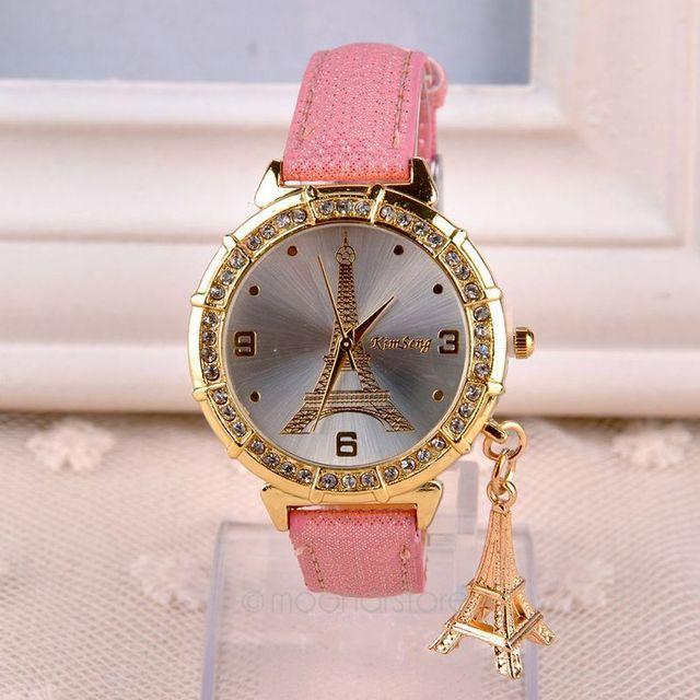 72b002aba3f New Fashion   Casual Relógio de Luxo Relógios relógio feminino Torre Eiffel  Vestir Relógios de Quartzo