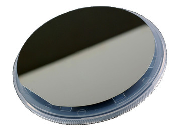 4 inch single-sided polished monocrystalline silicon wafer/resistivity 1-2 Ohm per centimeter/ thickness of 525um