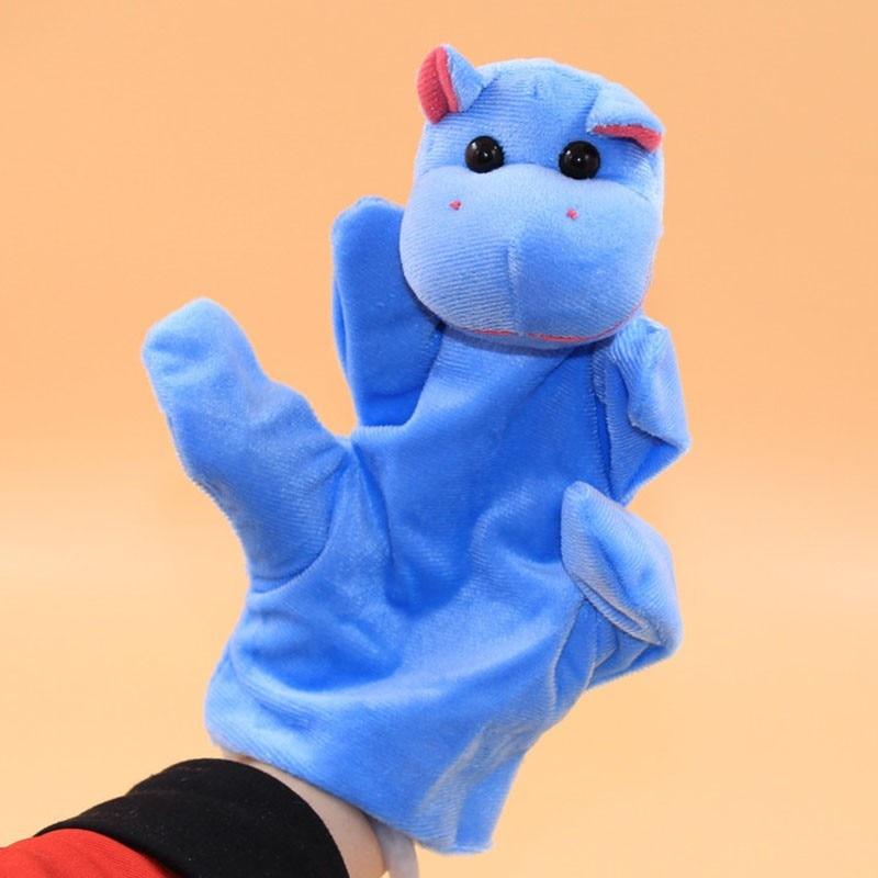 Baby Kids Child Hippo Animal Finger Puppet Infant Kid Toy Plush Toys Plush Toys Dolls Child Baby Favor Finger Doll