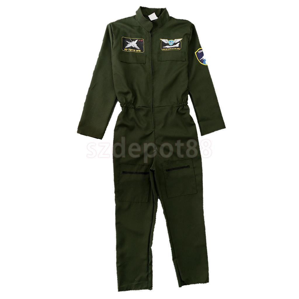 Dress Up Costume Men/'s Flier Fighter Overalls Air Force Army Cosplay Suit