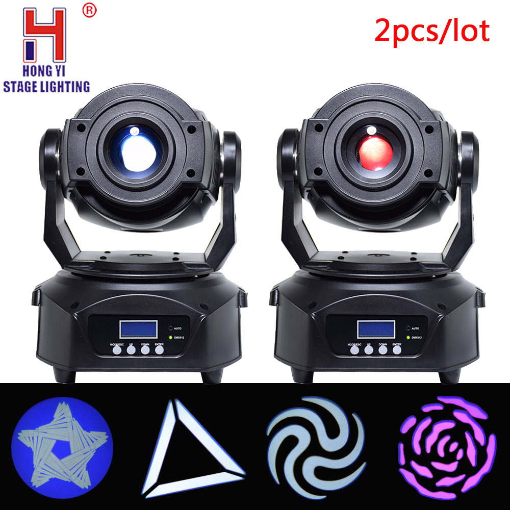 Mini lyre led 90w moving head lights spot led zoom gobos color mixing effect dmx control for dj party stage lighting 2pcs/lot