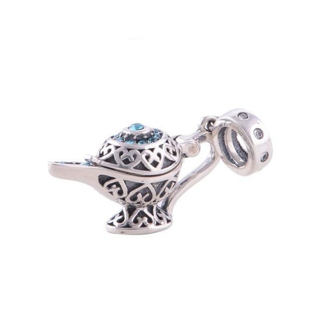 Magia de fadas chaleira bule diy bijuteria fina esterlina-prata-jóias fit pandora encantos pulseiras mulheres que fazem presentes originais