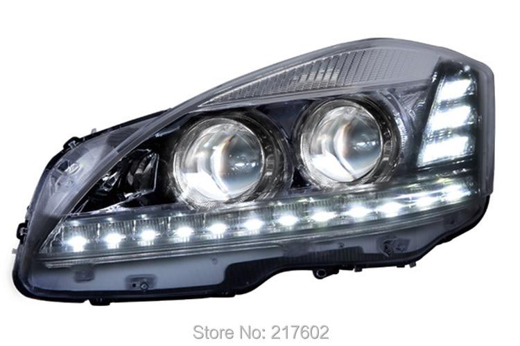 for Mercedes Benz S-class S250/ S300/ S300L/ S350/ S350L/ S400L/ S500L/ S600L headlights with LED DRL light 2006-2012 LF коптильня из нержавейки 2мм 500 300 250 doorz