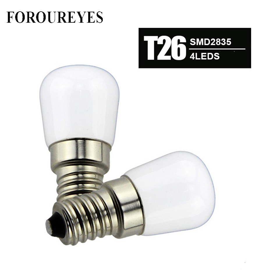 4pcs T26 1.5W <font><b>E14</b></font> <font><b>Refrigerator</b></font> <font><b>LED</b></font> lighting <font><b>mini</b></font> bulb AC220V Bright indoor <font><b>lamp</b></font> for Fridge Freezer Crystal chandeliers Lighting image