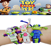 Legoing Toy Story 2 3 4 Woody Buzz Lightyear Jessie Lotso Rex Green Dinosaur Hamm Piggy Bank Batman Spiderman Deadpool Kid Gifts(China)