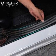 Vtear для Mazda CX-5 наклейки для автомобиля 5D карбоновые волокнистый слой резины для укладки порога протектор внутренней отделки аксессуары для ремонта 2013-2019