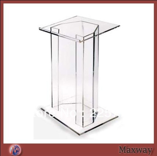 Clear Modern Stable Acrylic Acrylic Lectern Plexiglass