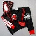 2015 roupa nova Primavera para crianças homem aranha homem aranha traje terno homem-aranha traje para Crianças Sets
