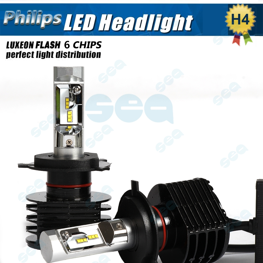2016 NEW CAR LED Headlight Kit 2X H4 9003 HB2 90W 6000K 12000LM P hilips Fog