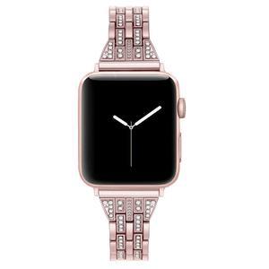 Image 2 - Für Apple Uhr Band 40mm 44mm 38 42mm Frauen Diamant Strap für Apple Uhr Serie 5 4 3 2 1 iWatch Armband Edelstahl Band