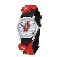Fashion Spiderman Watches 2016 Children Cartoon Watch Kids Cool 3D Rubber Strap Quartz Watch Clock Hours Gift Relojes Relogio