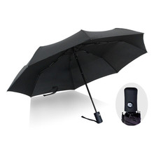New Fully-automatic Sun Umbrella Business Men Folding Umbrellas Sunscreen Anti UV Parasol Windproof