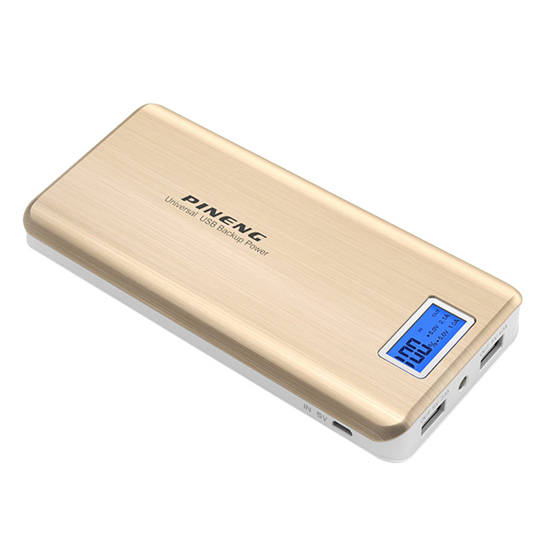 bilder für 20000 mAh Power Ladegerät Tragbare Externe Batterie LCD Display 2 Ports Energienbank für Smartphone Batteriebank 20000 mAh