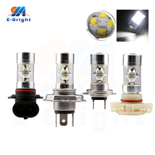 High Lumens 2pcs 12V 60W 12 SMD Led Bulb Lens H4 H7 H11 H16 9005 9006 Socket Headlight Highlight Fog Light 1440Lm Free Shipping free shipping pair of h4 pins headlight high
