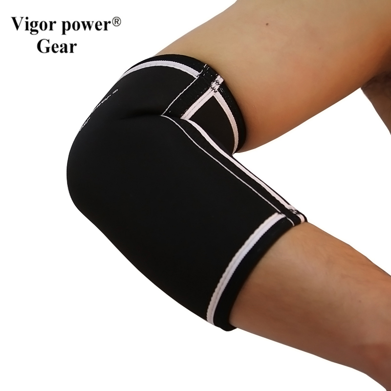 Free shipping VigorPowerGear 7mm elbow sleeves elbow pads 5mm elbow support for Fitness, Weightlifting Compression, Recovery